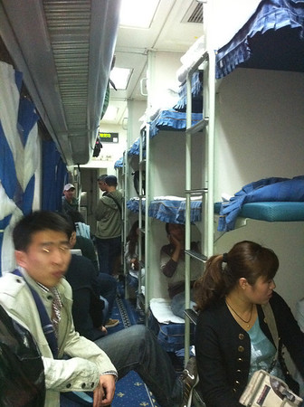 Chinese Night Train from Beijing to Xi'an