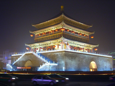 Bell Tower at Night - Xi'an, China