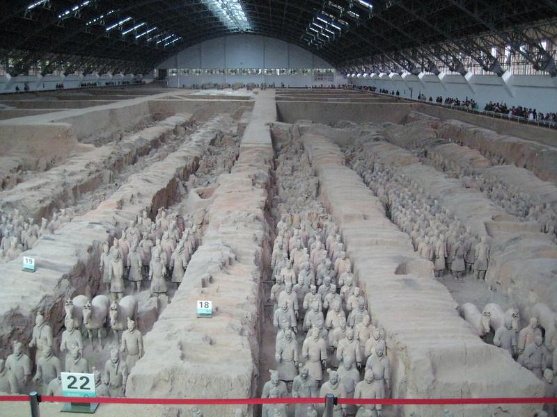 Terracotta warriors outside of Xi'an, China