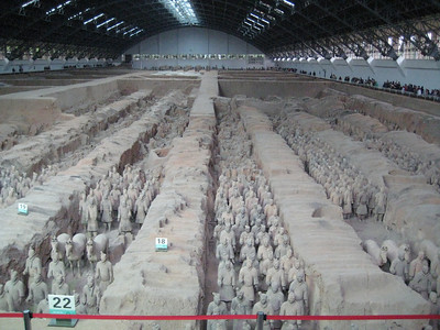 Terracotta warriors outside of Xi'an, China