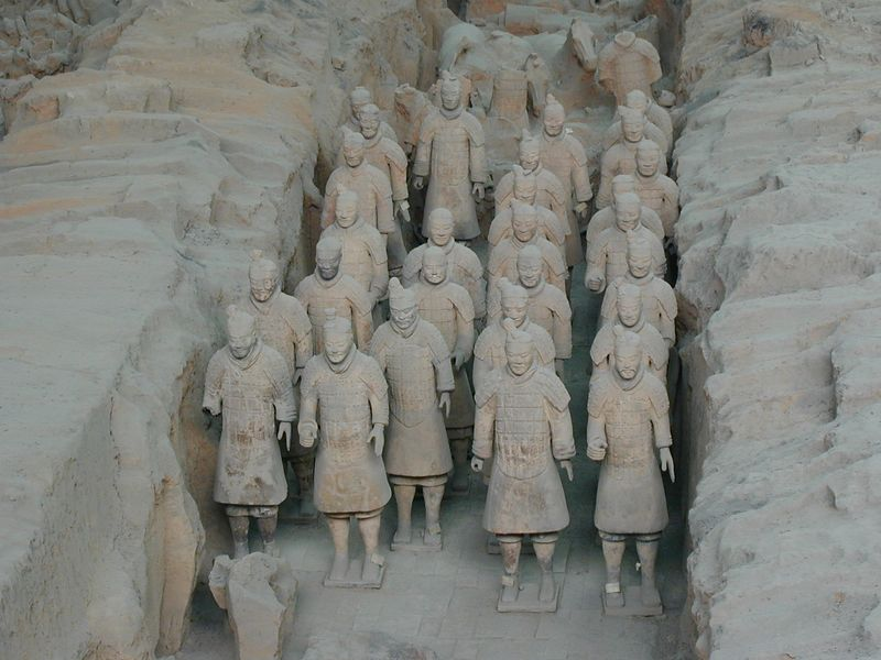 Qin Terra Cotta Warriors, Pit 1, Xian