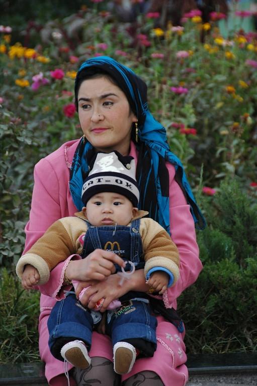 Uighur Mother and Son - Kashgar, China
