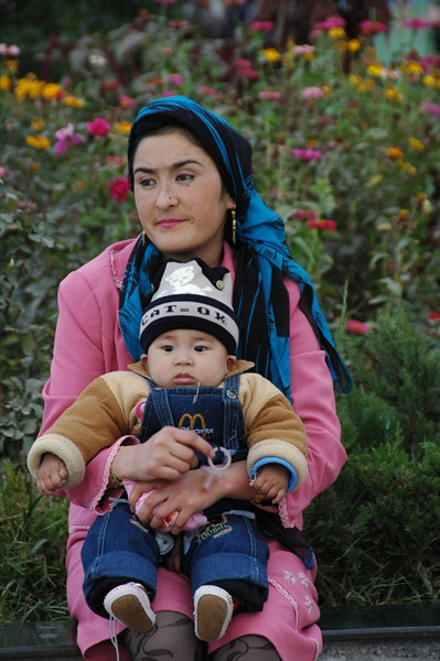 Uighur Mother and Son - Kashgar, China