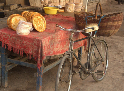 Xinjiang Bread and a Bike - Kashgar, China