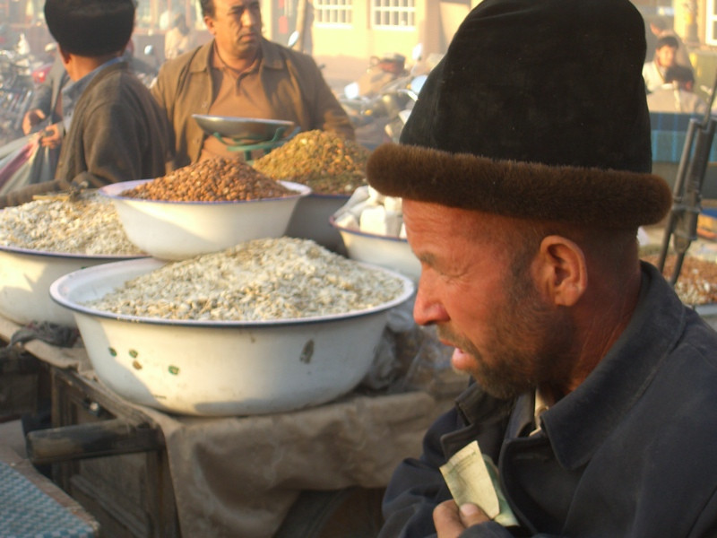 Uighur Man at Night Market - Kashgar, China