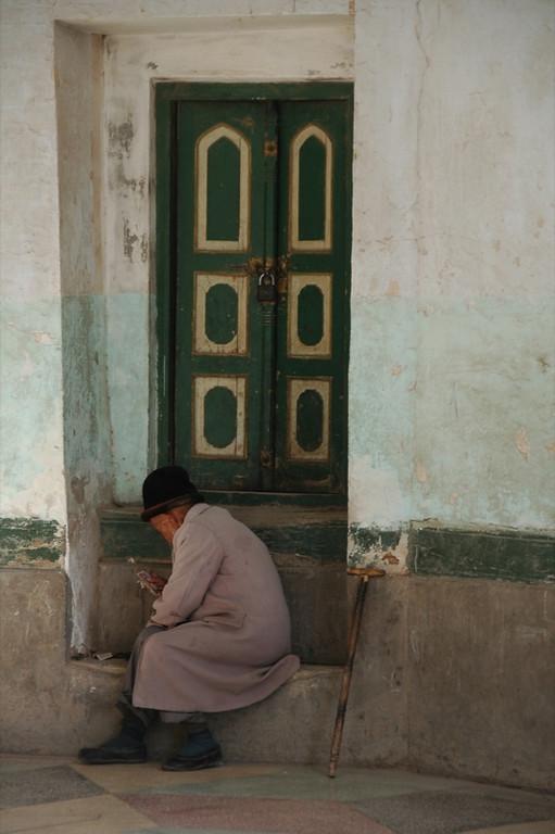 Old Uighur Man at Mosque - Kashgar, China
