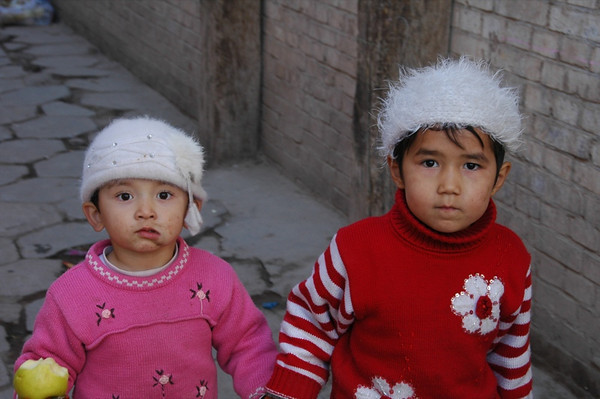 Uighur Girls in Old Kashgar, China