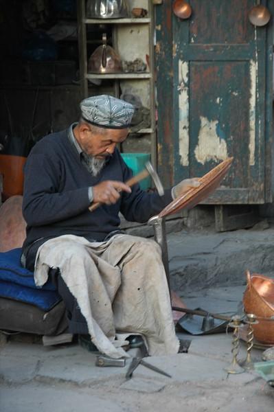Uighur Coppersmith - Kashgar, China