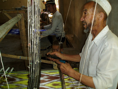 silk weaver, hotan