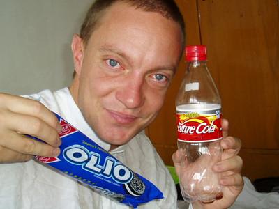 enjoying some tasty olio and future cola