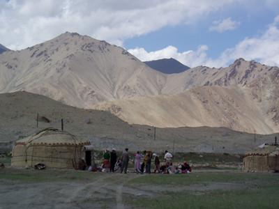 yurts and kyrgyz people, karakul