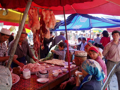 restaurant, kashgar markets