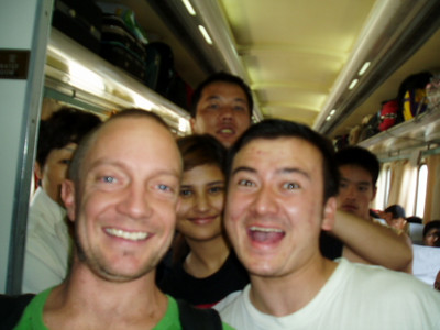 on the train from shanghai to turpan