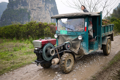 An interesting form of transportation in Yangshuo, China.