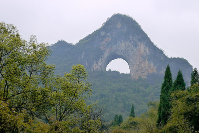 Moon Hill near Yangshuo, China.