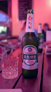 An ice cold Tsing Tao in Yangshuo, China.
