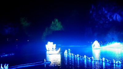Impression light show in Yangshuo, China.
