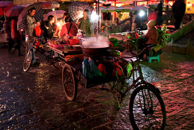 Bicycle street food cart in Yangshuo, China.