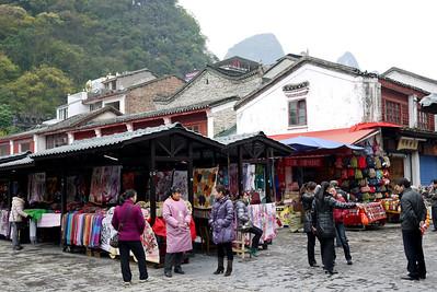 Vendors in Yangshuo, China.