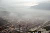 Yangzi River - Three Gorge Dam - Dam Construction (Clouds lifting)