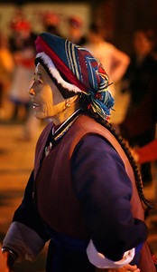 At night, everyone gathers in the square for some traditional dancing.
