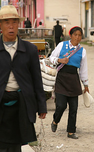 Street shot of downtown Zhongdian.