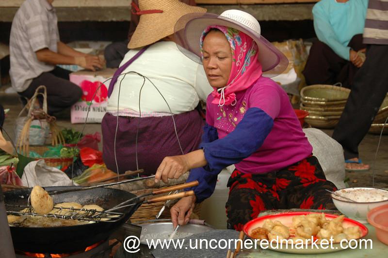 Fried Dough Balls - Xishuangbanna, China