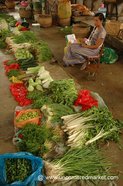 Veggies and Herbs, Gasa Market - Xishuangbanna, China