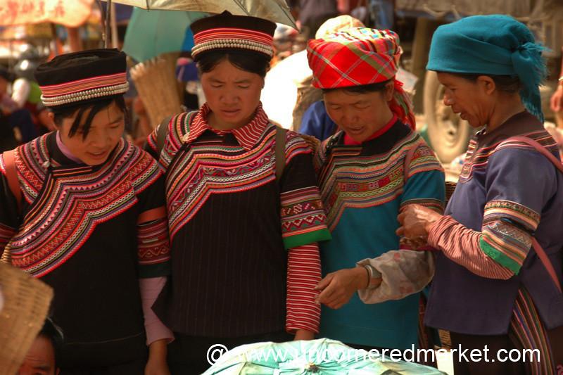 Hani and Yi Women at Yuanyang Market - China