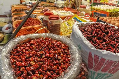 Szechuan spice market in Chengdu.