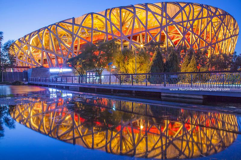 Bird's Nest Olympic Stadium, Beijing, China.