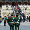 Chinese soldiers at the Forbidden City, Beijing, China.