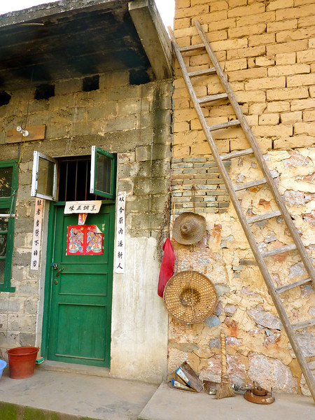 The entrance to a farmhouse in a village outside of Xingping, China.
