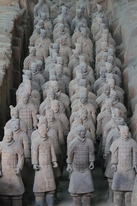Terracotta soldiers. Xian, China.