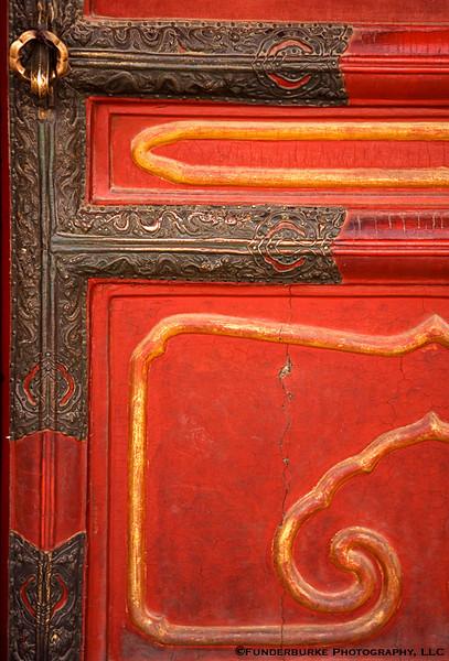 Door in the Forbidden City - Beijing