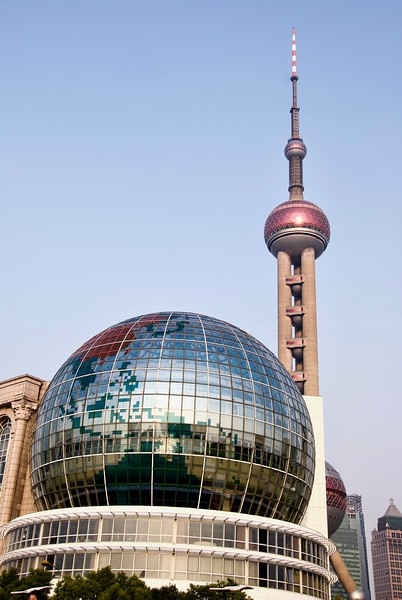Shanghai International Convention Center and Oriental Pearl TV Tower