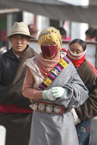 Tibetan woman, Xiahe.
