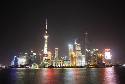 Shanghai skyline at night.
