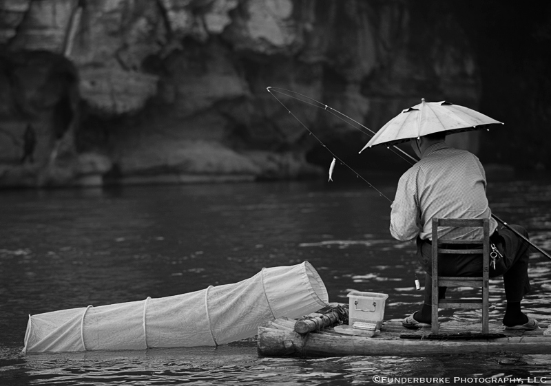 Fishing on the Li River - Yangshuo