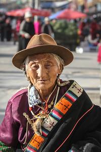 Tibetan pilgrim, Xiahe.