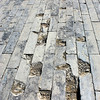 Bricks lining the Forbidden City have been worn down over hundreds of years in, Beijing, China.