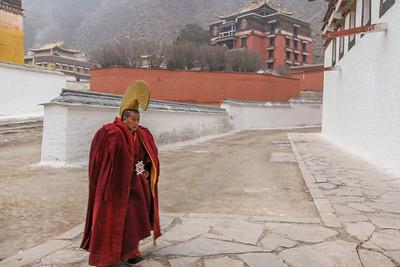 Lama at Labrang monastery,. Xiahe.