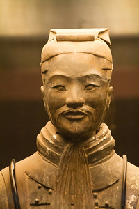 Terracotta soldier. Xian, China.