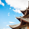 Chinese architecture: traditional pointy curved rooftops
