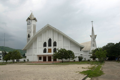 Minimalist architectural design at a cathedral in Dili, East Timor