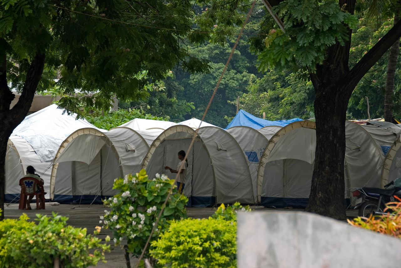 Tents at a refugee camp in Dili, East Timor