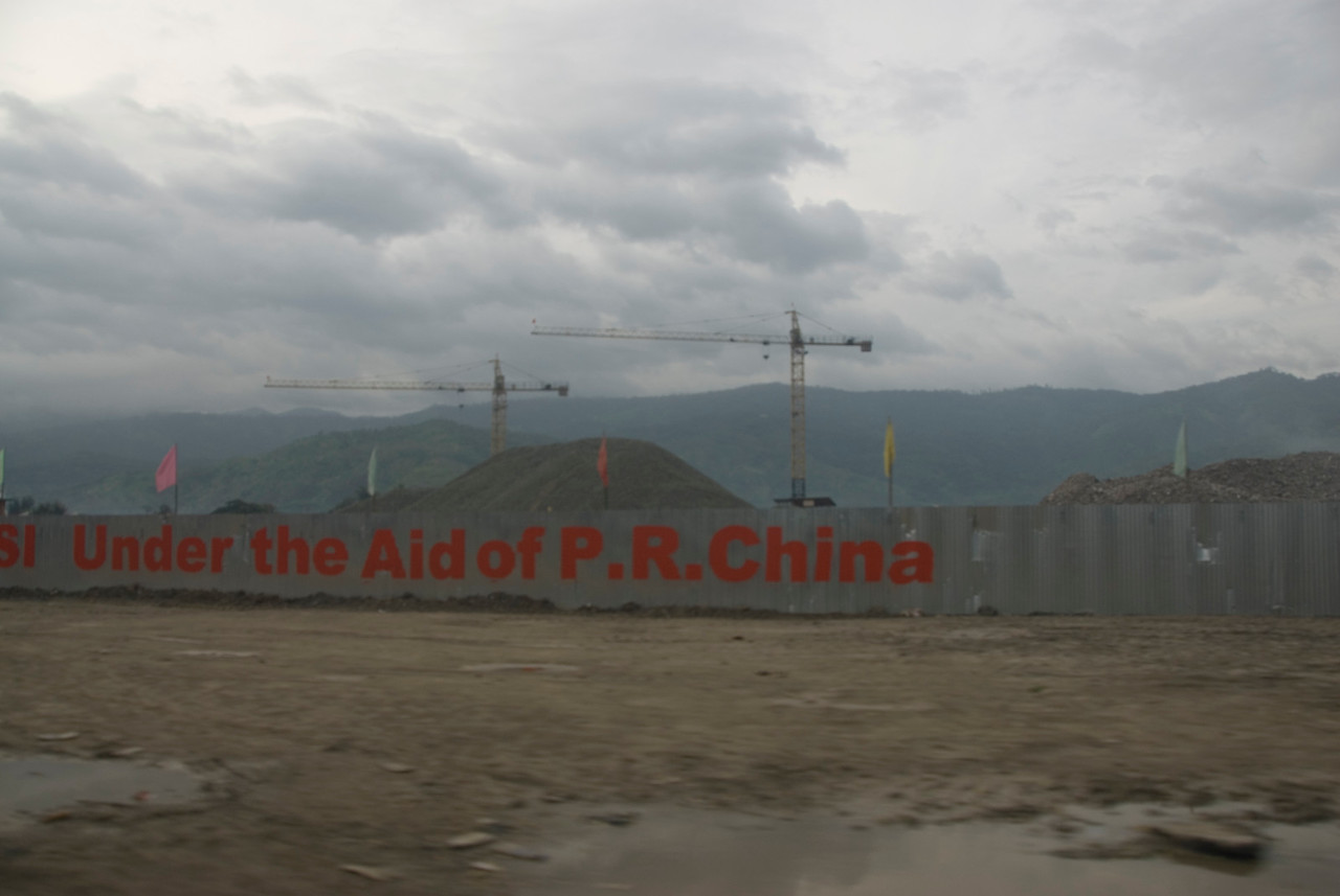 Shot of a construction site for new Government Palace in Dili, East Timor
