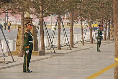 Guarding Tiananmen Square