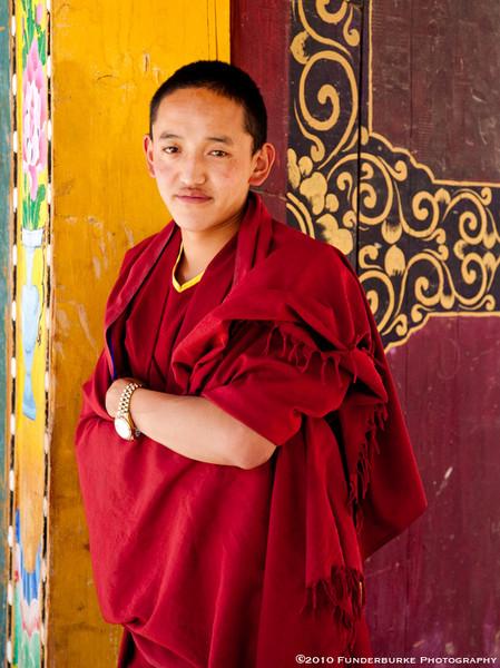 Novice at Songzanlin Monastery - Shangri-la, China