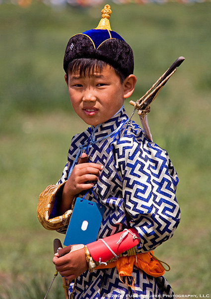 Young Archer at Naadam Festival - Mongolia